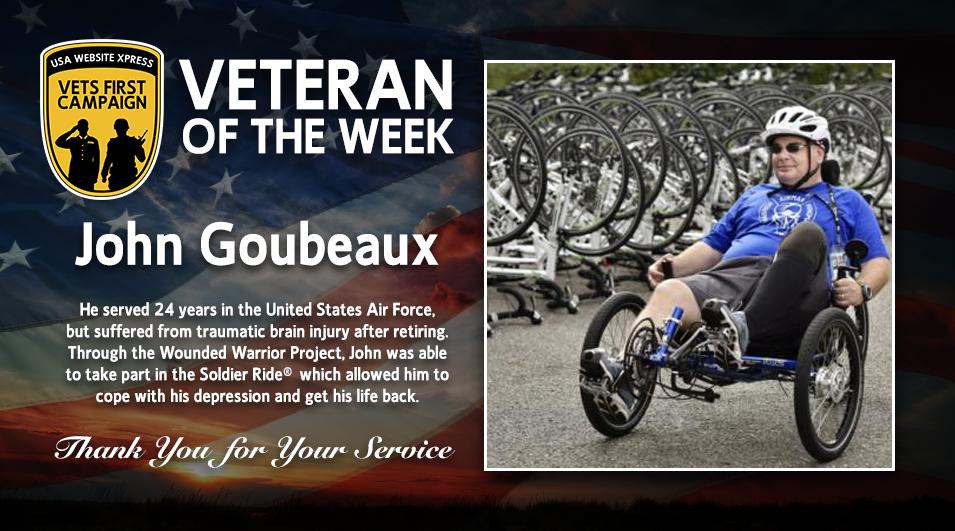 John Goubeaux, Veteran of the week