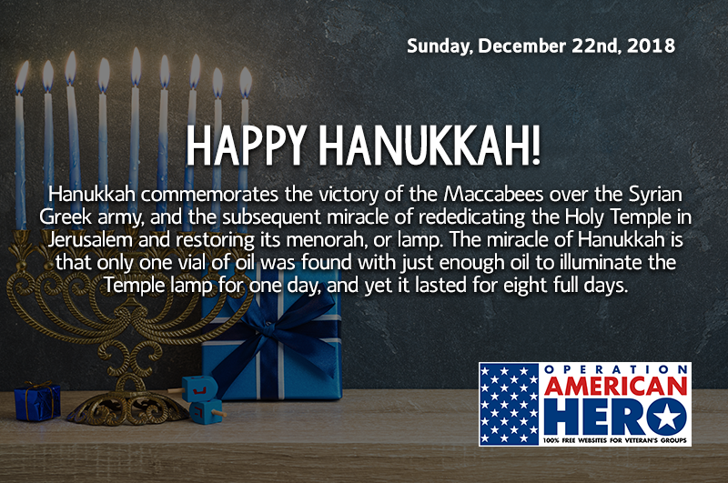 Hanukkah, Operation American Hero